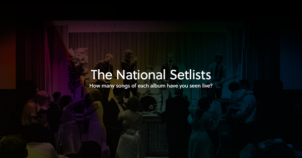 The National Setlists to Live Albums